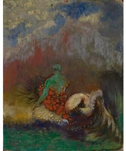 Odilon Redon, Siren, c.1900 (oil and gold powder on fibreboard)