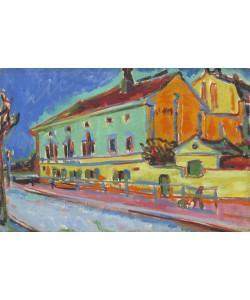 Ernst Ludwig Kirchner, Dance Hall Bellevue, 1909-10 (oil on canvas)