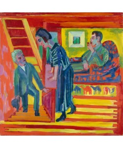 Ernst Ludwig Kirchner, The Visit - Couple and Newcomer, 1922 (oil on canvas)