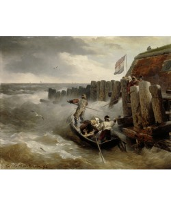 Andreas Achenbach, Seascape, 1894 (oil on wood)