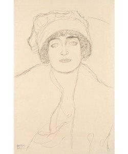 Gustav Klimt, Portrait in a Hat, 1917-118 (pencil on paper)