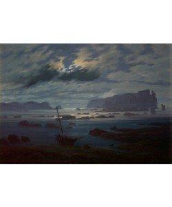 Caspar David Friedrich, The Northern Sea in Moonlight, 1823-24 (oil on canvas)