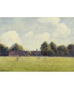 Camille Pissarro, Hampton Court Green, 1891 (oil on canvas)