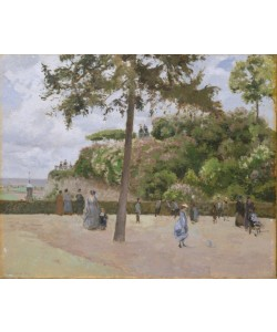 Camille Pissarro, The Public Garden at Pontoise, 1874 (oil on canvas)
