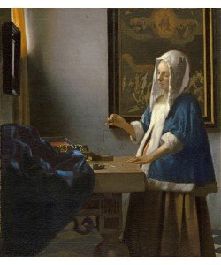 Jan Vermeer, Woman Holding a Balance, c.1664 (oil on canvas)