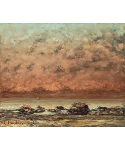 Gustave Courbet, The Black Rocks at Trouville, 1865- 66 (oil on canvas)