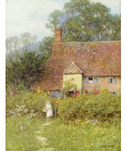 Helen Allingham, By the Cottage Gate (w/c on paper)