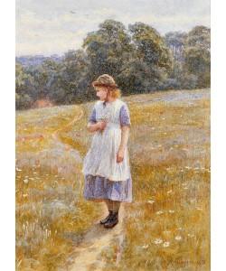 Helen Allingham, Daydreamer, 1878 (w/c on paper)
