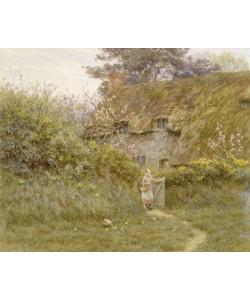 Helen Allingham, Springtime (w/c on paper)
