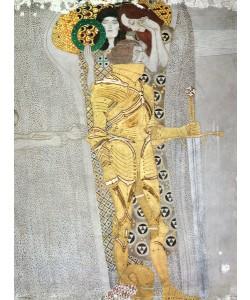 Gustav Klimt, The Knight detail of the Beethoven Frieze, said to be a portrait of Gustav Mahler (1860-1911), 1902 (fresco)