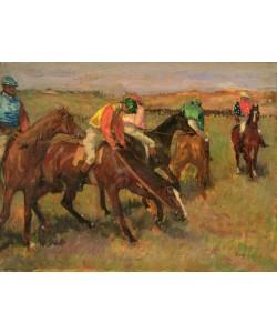 Edgar Degas, Before the Races, c.1882 (oil on panel)