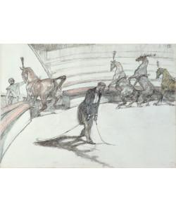 Henri de Toulouse-Lautrec, Au Cirque: Chevaux en Liberte, 1899 (black & coloured crayon on paper)