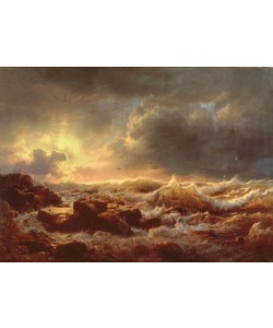Andreas Achenbach, Clearing Up - Coast of Sicily, 1847 (oil on canvas)