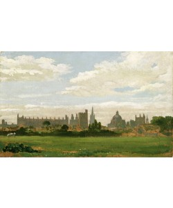 William Turner, A View of Oxford (oil on millboard)