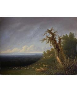 William Turner, Shepherd Boy on a Hillside (oil on panel)