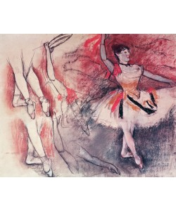 Edgar Degas, Dancer with Tambourine, or Spanish Dancer, c.1882 (charcoal & pastel on paper)