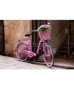 Adam Wasilewski, pink bicycle