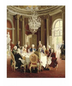 Adolph von Menzel, Guests At Table