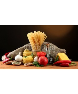 Africa Studio, Pasta spaghetti, vegetables and spices,
