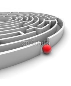 ag visuell, Labyrinth mit roter Kugel