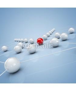ag visuell, Netzwerk und Social Media - 3d Illustration / 3D Grafik