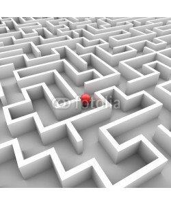 ag visuell, 3D-Grafik: Labyrinth mit roter Kugel