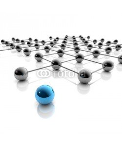 ag visuell, Netzwerk und Social Media - 3D Grafik / 3d Illustration