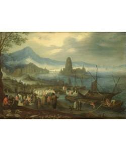 Jan Brueghel der Ältere, Die Predigt am See Genezareth