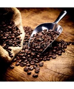 AK-DigiArt, Kaffeebohnen geröstet im Sack mit Schaufel