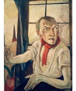 Max Beckmann, Selbstbildnis mit rotem Schal