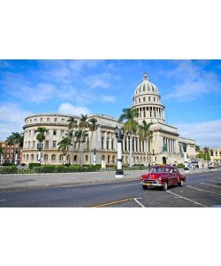 Aleksandar Todorovic, Classic cars in front of the Capitol  in Havana. Cuba