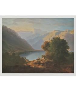 Alexandre Calame, Genfersee-Landschaft gegen Villeneuve, 1852