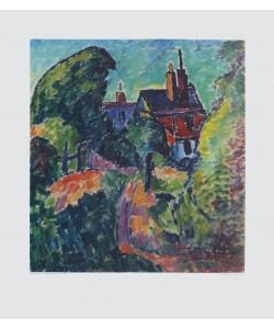 Alexej von Jawlensky, Haus zwischen Bäumen