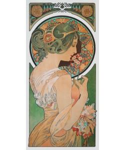 Alphonse Maria Mucha, La Primavera - Der Frühling (Detail) - Die Primel, 1899