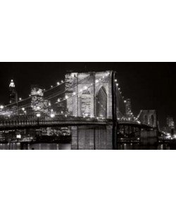 Alan Blaustein, Brooklyn Bridge at Night