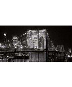 Alan Blaustein, Brooklyn Bridge at Night
