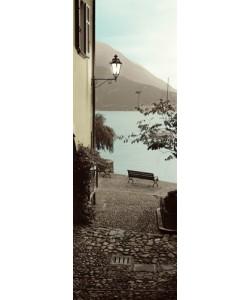 Leinwandbild Alan Blaustein, Panchina di Lago