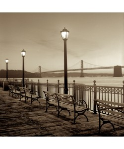 Alan Blaustein, San Francisco Bay Bridge at Dusk