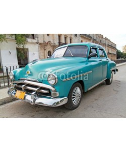 Aleksandar Todorovic, Classic blue Plymouth in Havana. Cuba.