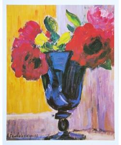 Alexej von Jawlensky, Rosen in blauer Vase - 1937