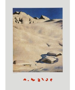Alfons Walde, Almen im Schnee