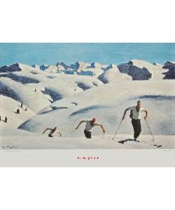 Alfons Walde, Der Aufstieg der Schifahrer (quer)