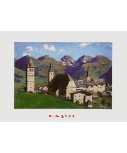 Alfons Walde, Kitzbühel im Sommer