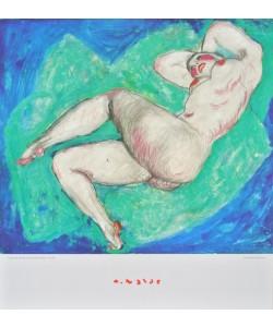 Alfons Walde, Liegender Akt mit überschlagenem Bein