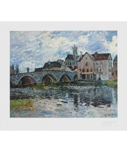 Alfred Sisley, Die Brücke von Moret, 1887