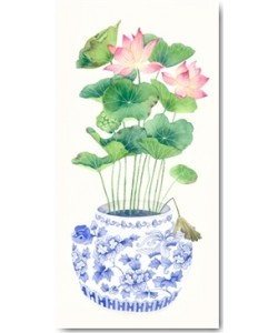 Gabby Malpas, Blue Porcelain Lotus