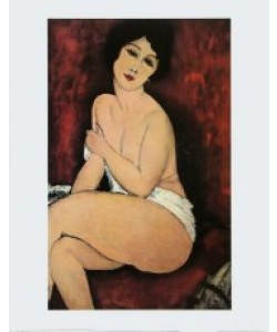 Amedeo Modigliani, Sitzender Akt, 1918 - La Belle Romaine