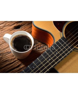 amenic181, coffee cup and guitar on wooden table