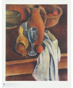 André Derain, Stilleben (Tonkrug, weiße Serviette und Früchte)