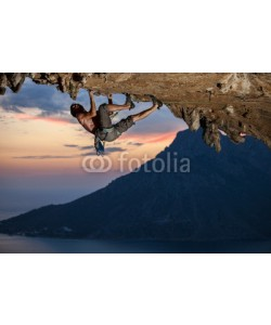 Andrey Bandurenko, Rock climber at sunset, Kalymnos Island, Greece